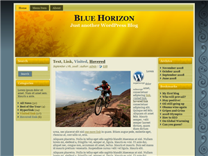 Floral Blue Horizon Theme