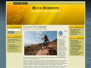 Floral Blue Horizon Theme