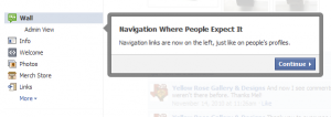 Facebook Tour Navigation