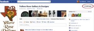 Facebook Edit Page