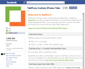 Adding an App to your Facebook Page