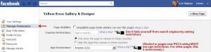 Facebook Manage Permissions