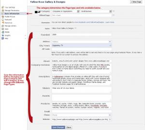 Facebook Page Basic Information