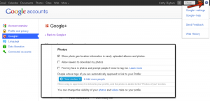 Google Plus Settings
